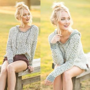 Tops - NEW! Cozy Popcorn Knit Pullover Hoodie